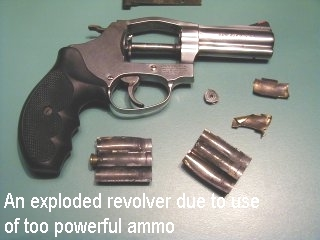 Colt Revolver Explodes
